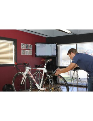 The Retul bike profile gives us a fit report that logs all of our critical measurements