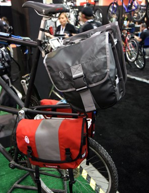 Timbuk2's Tandem and Shift panniers both feature easy on/off, reflective patches and durable weather-resistant nylon construction