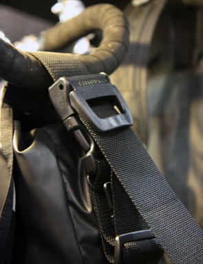 The quick-release cam buckle retains the strap length adjustment even when it's disconnected