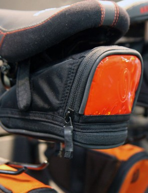 The tidy-looking Lightbrite saddle bag incorporates a big reflective rear panel for visibility