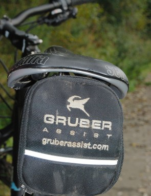 Batteries are housed in the saddle bag