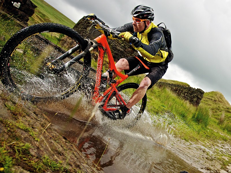 OK, it's exaggerated here, but the fact that 29ers make riders look little is something some people can't hack
