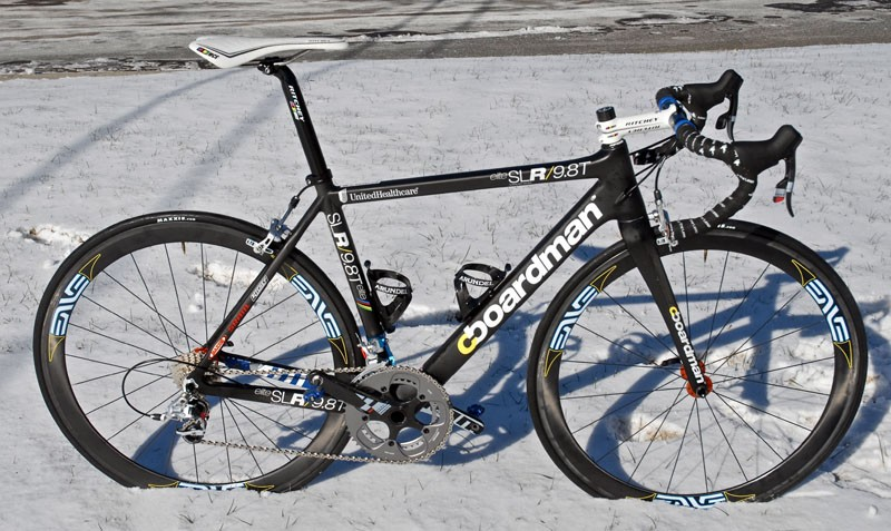 The UnitedHealthcare Pro Cycling team is riding Boardman carbon fibre machines for 2011.