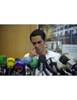 Contador at his press conference