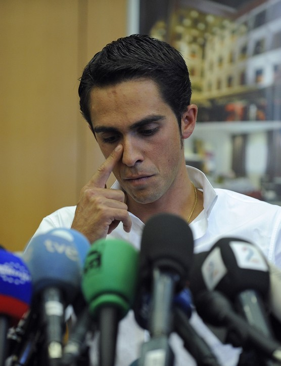 Contador at his press conference