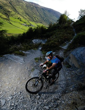 Dafydd Davis riding one of his favourite routes at Penmachno