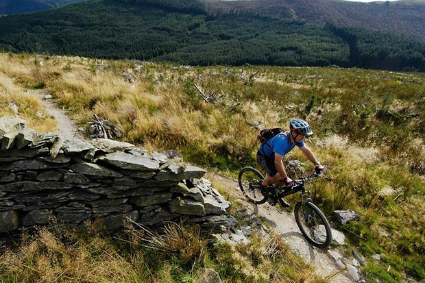 Dafydd Davis riding one of his favourite routes at Penmachno in North Wales