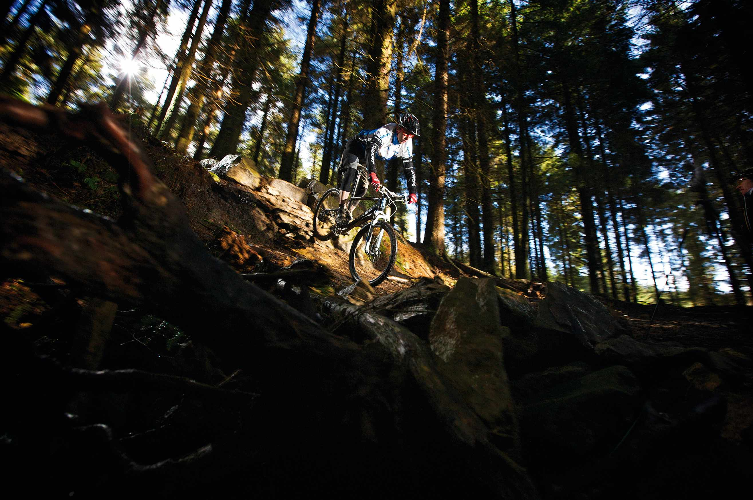 See the pros take on Dalby Forest VIP-style