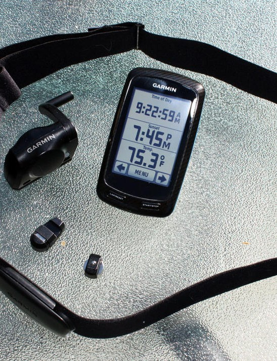Garmin will offer the Edge 800 as a standalone unit or in a bundled package that includes a City Navigator microSD card, a wireless speed and cadence sensor, and the company's new premium heart-rate monitor strap.