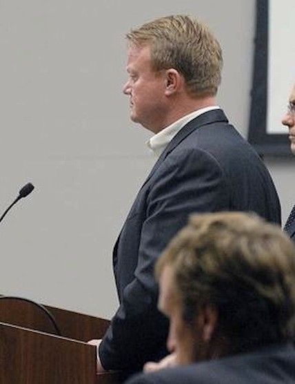 Erzinger at sentencing on Thursday