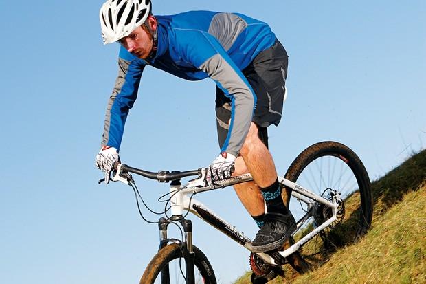 The RockShox Tora SL fork struggled to come close to its 120mm travel