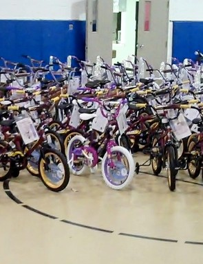 168 of the 500 bicycles were assembled and donated in Grand Rapids. The remaining bicycles reached children in six other Michigan cities