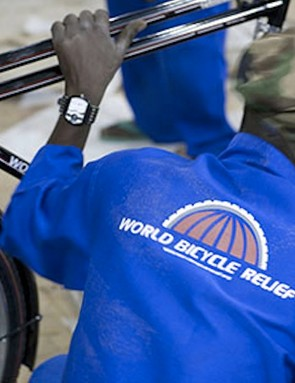 World Bicycle Relief mechanics assemble roughly 1,000 bikes a month