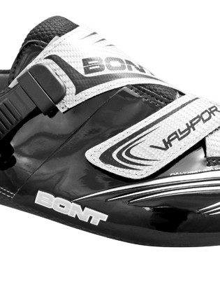 Bont will offer their new Vaypor Premium models in several colors, including black microfiber with silver straps
