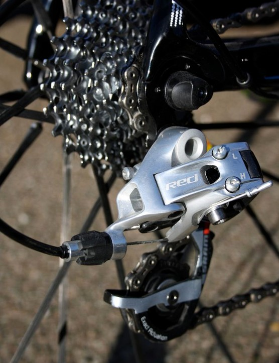 SRAM's Red rear derailleurs are becoming increasingly common in the pro peloton