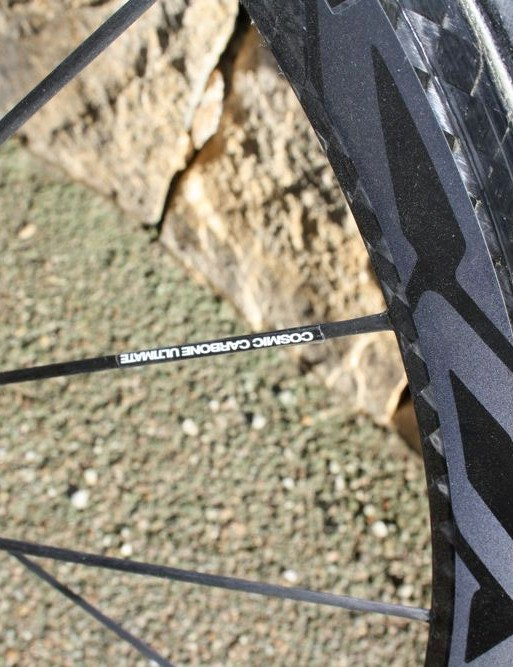 Mavic's latest Cosmic Carbone Ultimate rims use reflective decals