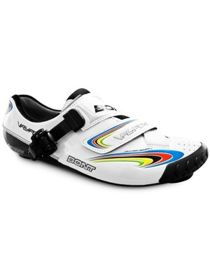 Bont's new Vaypor WCE will honor Thor Hushovd's world championship victory with rainbow stripes on the side and forward strap plus a Norwegian flag on the heel