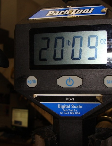 Santa Cruz's claimed weight for the pre-production rig