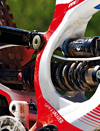 The Fox rear shock offers plenty of adjustment and a smooth ride