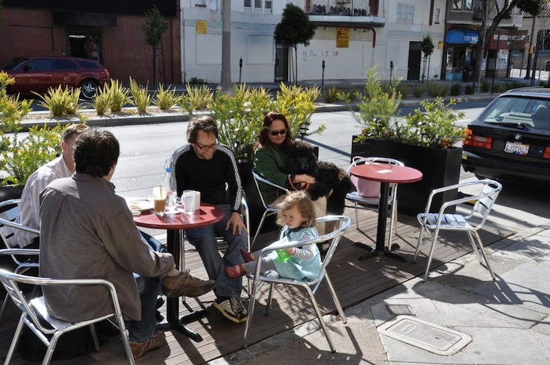 Undoubtedly, a parklet is a nice place to spend a lunch hour