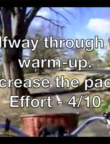 Each video starts with a proper warm-up and ends with an easy cool-down