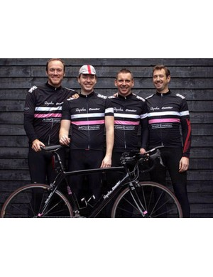 Dan, second from left, took part in the Race Across America as part of Team Sharp4Prostate