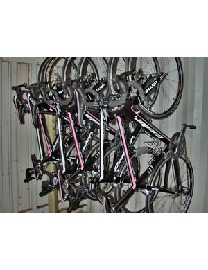 The stolen bike is black with Rapha's trademark pink detailing