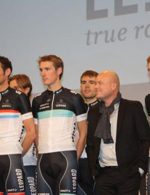 Team Leopard-Trek on show at yesterday's team presentation in Luxembourg