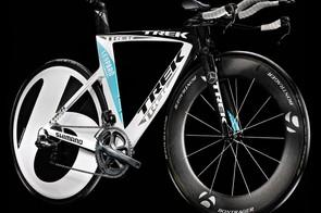 The team issue Trek Speed Concept bike