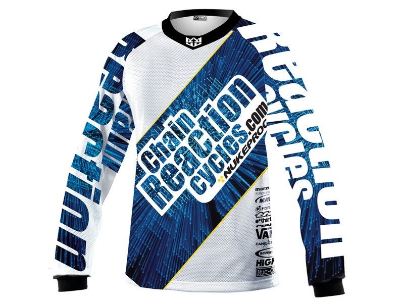 The Chain Reaction team will remain in their trademark blue and white colours for 2011, with a hint of Nukeproof yellow. We wonder what colour the bikes will be...