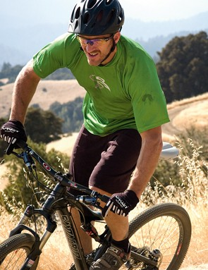Rob has seemingly boundless energy on his bike despite a heavy night before our ride