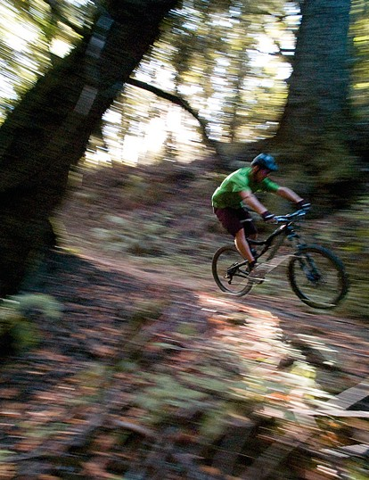 You don't need a full-susser to ride these trails, but those are the bikes Rob loves to make