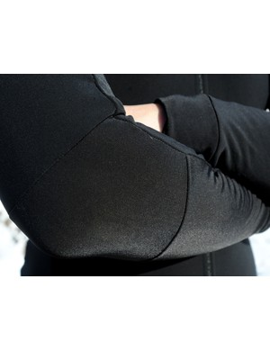 Separate panels at the elbow help prevent bunching