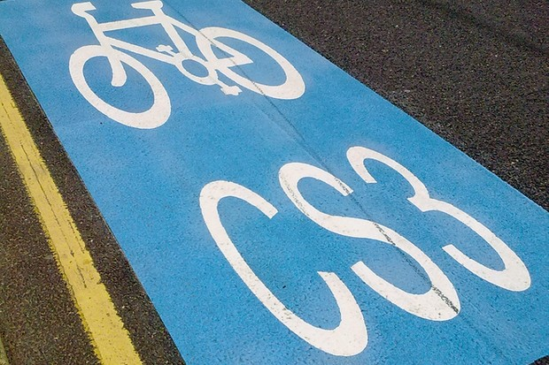 Transport for London say bike usage on the two pilot Cycle Superhighways has more than doubled on some sections