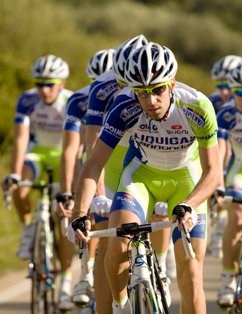 Liquigas-Cannondale training in Sardinia in their new Sugoi kits