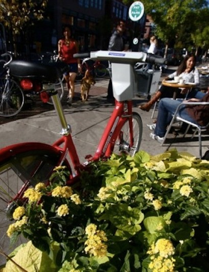 The B-Cycle program is meant for short trips around town, for example: to expand one's lunchtime range