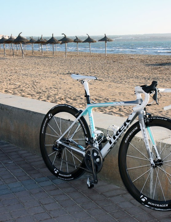 Team Leopard-Trek's Trek Madone 6.9 SSL bikes were produced to an amazingly accelerated timeline