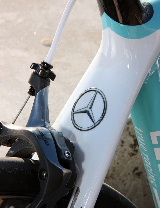 The Mercedes-Benz logo is discretely applied to the seatstay wishbone