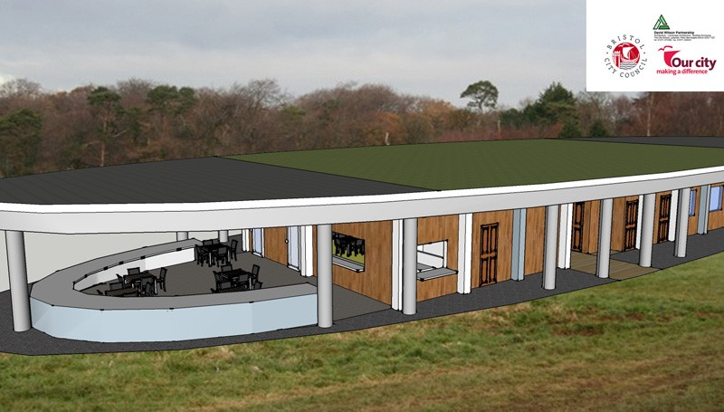 Artist's impression of the new trail centre at Ashton Court in Bristol
