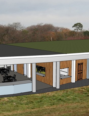 Artist's impression of the new trail centre at Ashton Court in Bristol