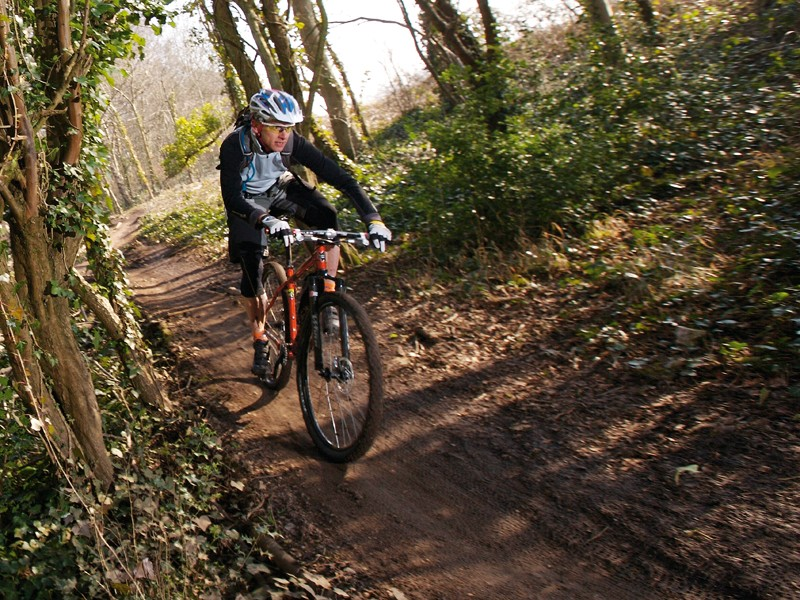 Ashton Court's Timberland Trail can be treacherous when wet; the new construction work should make it rideable year-round