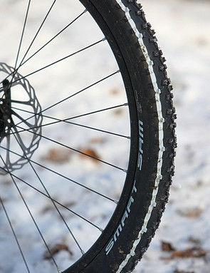 Alex rims are relatively soft and the Shwalbe tyres are hard, which isn't the ideal combo for inspiring confidence