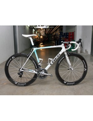 Andy Schleck (Leopard Trek) is hoping this Trek Madone 6.9 SSL will carry him to victory this July