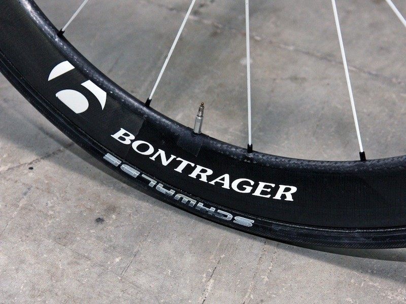 Bontrager is developing these ultra-wide 50mm-deep carbon tubulars with input from the team