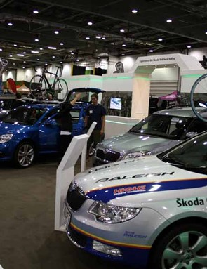 Skoda sponsored the Bike Arena and had their team cars on display