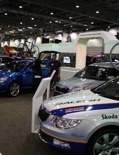 Skoda sponsored the Bike Arena and had their team cars on display