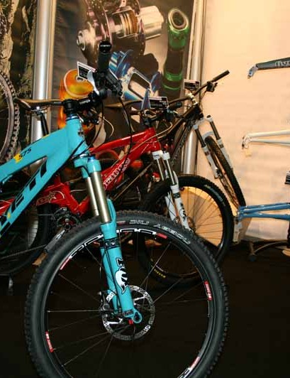 New bikes from Yeti, Santa Cruz and Orange were on the Bromley Bike Co stand