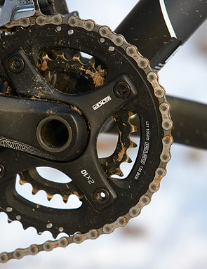 The steep steering, long stem and simple suspension mean the bike isn't confident on more technical trails