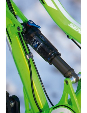 Fox's RP rear shock is the key part of the plush and consistently controlled ride feel of the GT Sensor 2.0