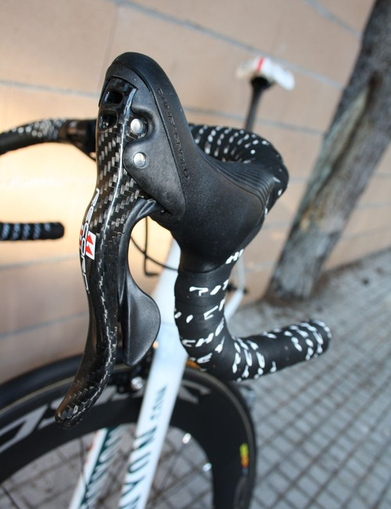 The Omega-Pharma Lotto team bikes are fitted with Campagnolo's latest Record 11 group.